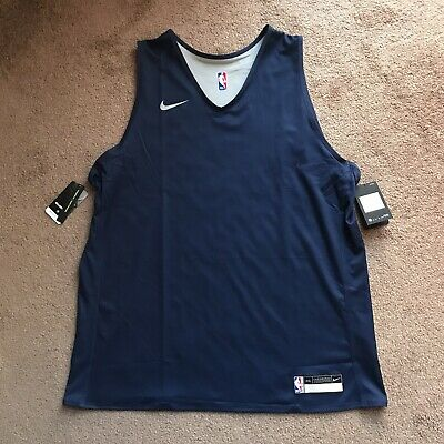 Nike NBA Team Player Issue Practice Jersey Navy Blank Reversible 933573-419 XXL