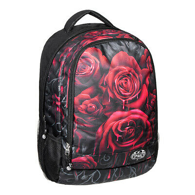 Spiral Direct Blood Rose Garland Gothic Witch Black Studded Tote Bag