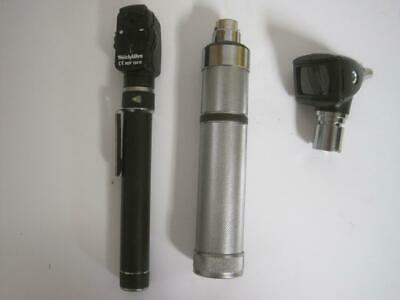 Welch Allyn Otoscope 25020A & Ophthalmoscope 13010 Battery Powered w/ Carry Case