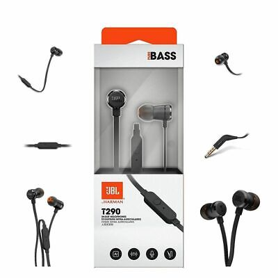 JBL T290 Sound Pure Bass In Ear Earphones/Headphones with Mic Rose Gold,Silver