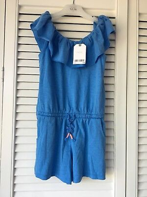 Bnwt NEXT girls blue short playsuit jumpsuit for age 5 years New