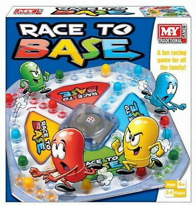 Race To Base Frustration Traditional Fun Family Kids Indoor Board Toy Game