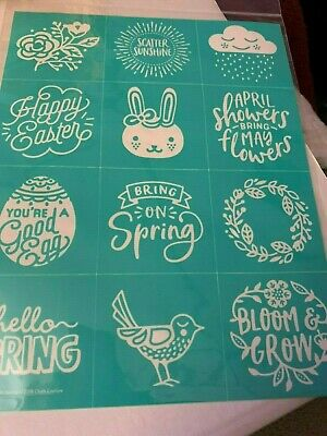 Chalk Couture Transfer,  Easter  Mini Icons  RETIRED HTF