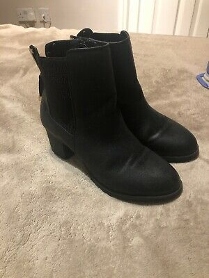 Girls Black River Island Boots Size Uk 13