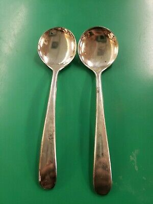 2 Vintage Eales 1779 Silver Plated Soup Spoon  - Made in Italy