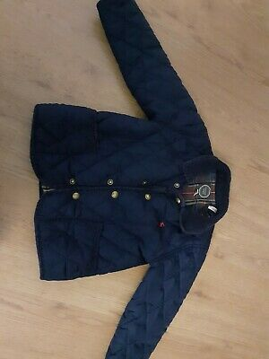 Joules Boys  Coat Jacket  Age 2 - 3 Years Quilted Navy Blue