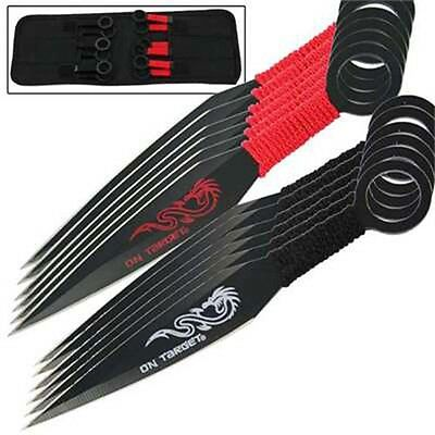 Martial Arts On Target Bullseye 12 Piece Practice Dragon Throwing Knife Set