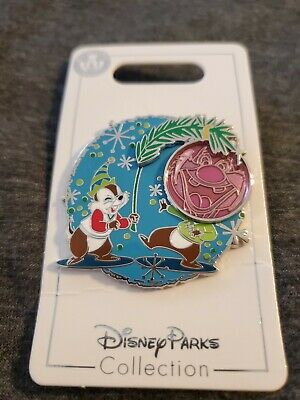 Disney Parks 2019 Christmas Chip & Dale Ornament Pin