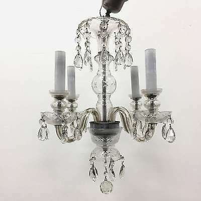 French Antique Glass & Crystals Chandelier - p70