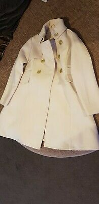 Girls Cream Coat Age 5-6 Yrs
