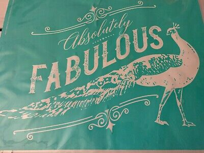 Chalk Couture Transfer, Absolutely Fab Peacock RETIRED
