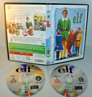 Elf - Will Ferrell James Caan - Double Disc Edition - Christmas Holidays Dvd Vgc