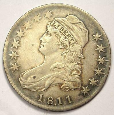 1811/10 Capped Bust Half Dollar 50C - Sharp XF Details - Rare Overdate Coin!