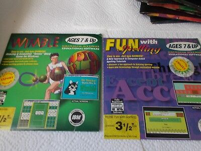3 1/2 Disks. Wimble Ages 7 & Up. Fun With Spell Ages 7&Up Educational Software
