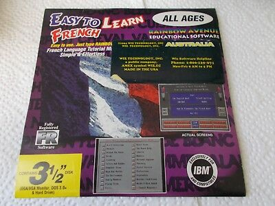3 1/2 Disks  Easy To Learn French  All Ages  Educational Software