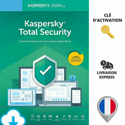 🔑 Licence KASPERSKY TOTAL SECURITY 2019 2020 - 1 AN 1 PC - VPN / ANTIVIRUS