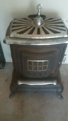 Antique Cast Iron Wood Burning Parlor Stove