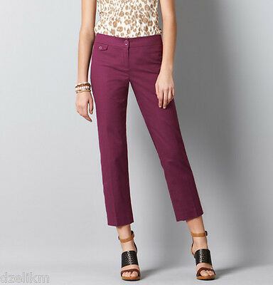 NWT Ann Taylor LOFT Marisa Cropped Modern Cotton Pants with Stretch Size 0