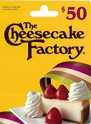 The Cheesecake Factory Gift Card - FREE GIFT w/ $50 paper certificate purchase