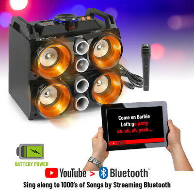 Karaoke Machine Party Speaker with Bluetooth Disco LED Lights and Microphone MDJ