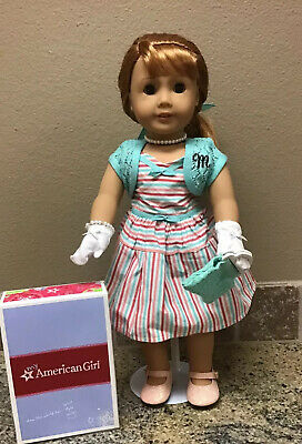 """American Girl Doll 18"""" MARY ELLEN LARKIN BEFOREVER preowned with book."""