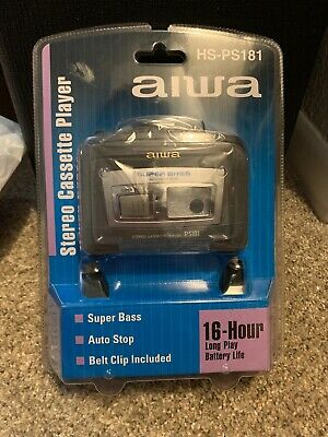 Aiwa HS-PS181 Cassette Walkman with Headphones NIP
