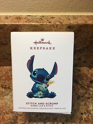 2019 HALLMARK STITCH AND SCRUMP DISNEY LILO & STITCH HTF Keepsake Ornament