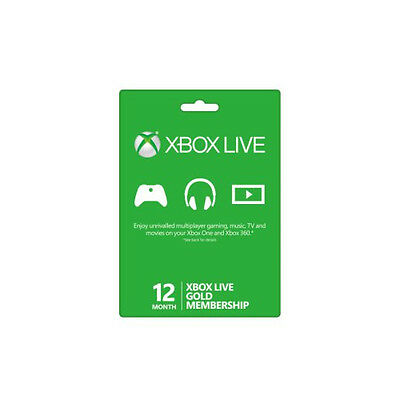 Microsoft Xbox One 12 Month Live Gold Membership - Digital Code (Turkey VPN)