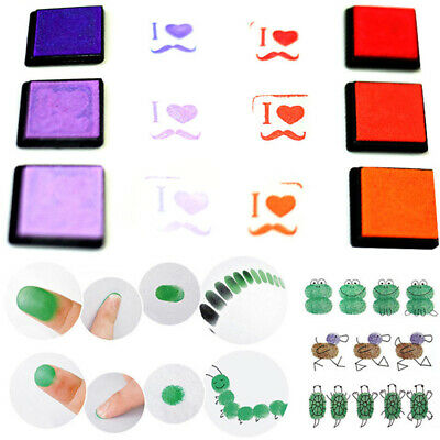 Mini Rubber Stamps Pigment Ink Pad Craft Cardmaking Scrapbooking
