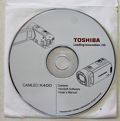 """""""Toshiba Camileo X400"""" User's Manual CD , Excellent Pre-Owned Condition !"""