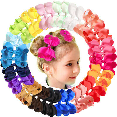 """40Pieces 4.5"""" Hair Bows Alligator Clips For Girls Toddlers Kids Hair Accessories"""