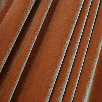 French (Copper) 4 WAY Spandex Stretch Velvet Fabric By The Yard//Smooth Back