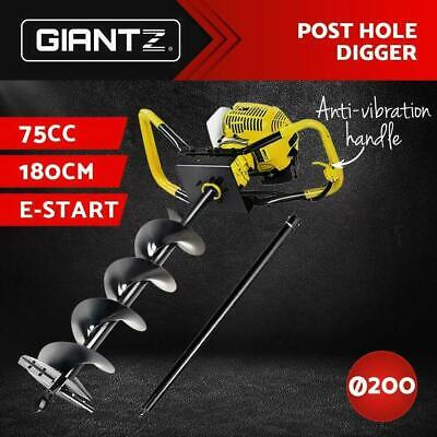 Giantz 75CC Petrol Post Hole Digger Auger Bits Drill Borer Fence Extension