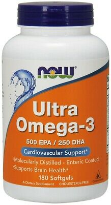 Ultra Omega-3, 500 EPA/250 DHA Now Foods 180 Softgel