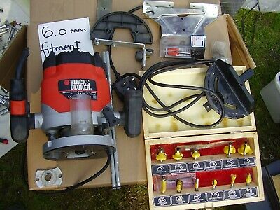 Black & decker router with accessories and bits