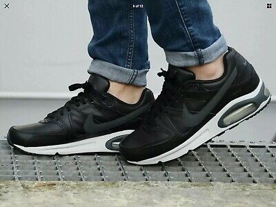 NIKE AIR MAX Command Leather Black Size 9 £41.00 | PicClick UK