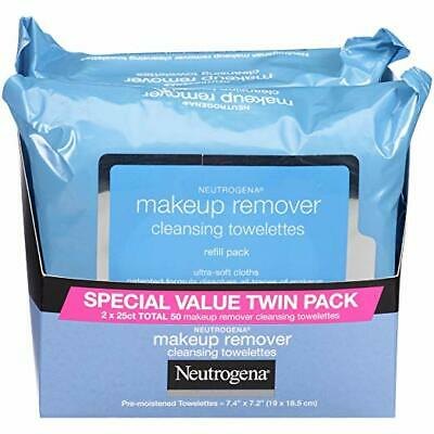 Neutrogena Makeup Removing Wipes, Set Of Two Packs (25 Count / each)
