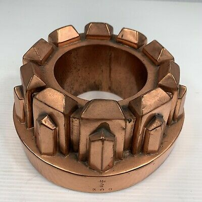 Antique Arts & Crafts Copper Jelly Mould Benham & Froud 15.5cm Facetted Turret