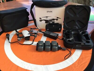 DJI Spark Mini Drone Fly More Combo 1080p - White + Extra Accessories