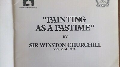 """""""PAINTING AS A PASTIME"""" by Winston Churchill - catalogue 1977"""