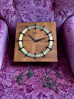 Vintage German Kieninger Wooden Wall Clock