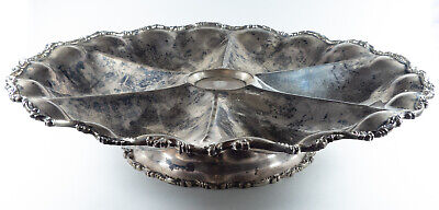 Sterling Silver Lazy Susan Divided Serving Tray