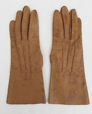 Vintage tan grained leather gloves,size Small(approx 7)