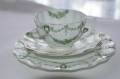 Antique Aynsley bone china trio - teacup, saucer & plate - great condition