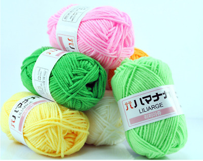 CHIC 20 colors Crochet Soft Bamboo Cotton Knitting Yarn Baby Natural Wool Yarn