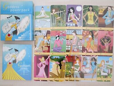 """The Goddess Power Pack"" Oracle Cards boxed set with book by Cordelia Brabbs."