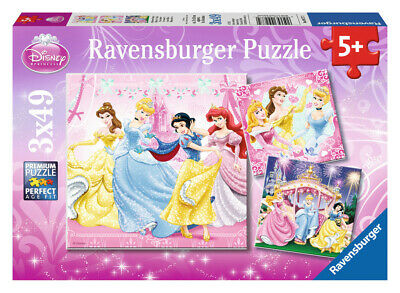 "Ravensburger 09277 - Disney Princess Puzzle-Set ""Princess"", 3x49 Teile"