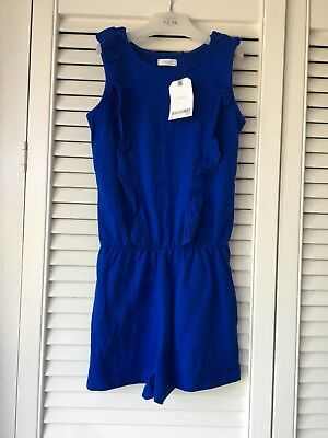 Bnwt NEXT girls blue short playsuit jumpsuit for age 4 years New
