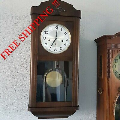 0287 - German FHS Hermle Westminster chime wall clock