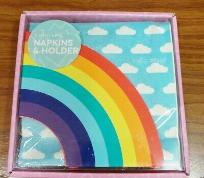 Napkin Serviette Holder Sunnylife Cloud Print Napkins Rainbow